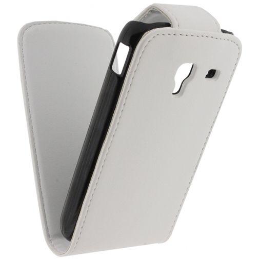Xccess Leather Flip Case White Samsung Ace 2 i8160