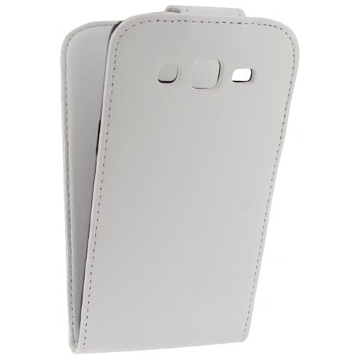 Xccess Leather Flip Case White Samsung Galaxy Grand 2