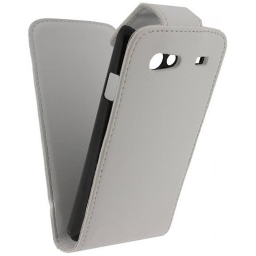 Xccess Leather Flip Case White Samsung Galaxy S Advance