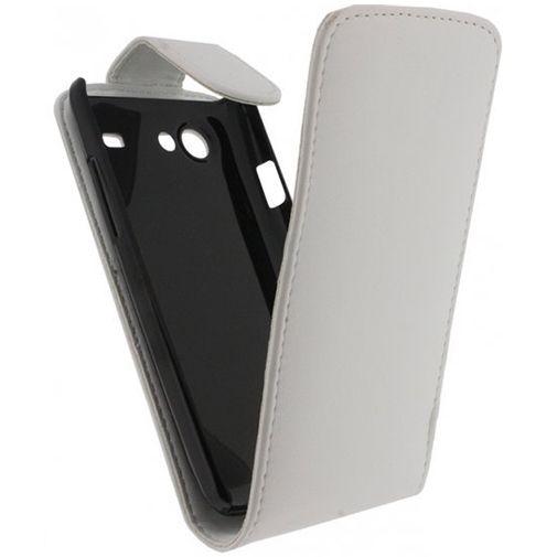 Xccess Leather Flip Case White Samsung Galaxy S Advance