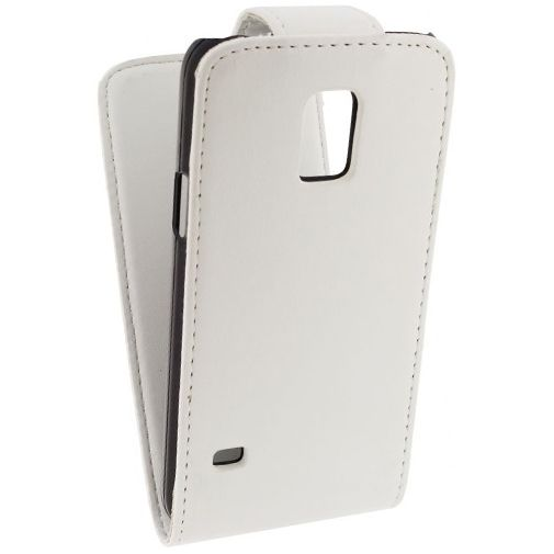 Productafbeelding van de Xccess Leather Flip Case White Samsung Galaxy S5 Mini
