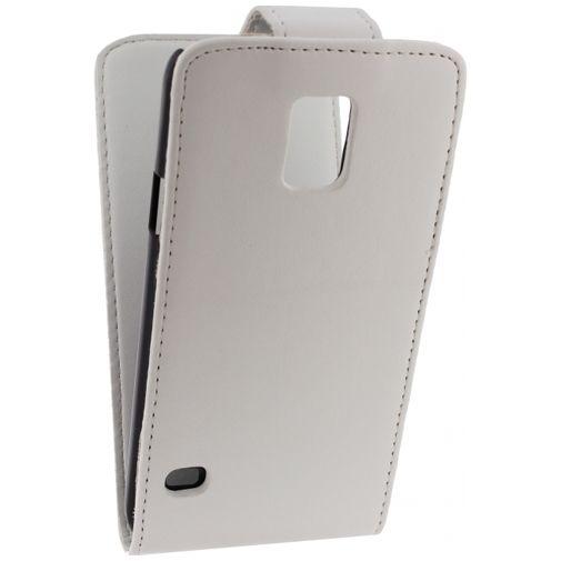 Productafbeelding van de Xccess Leather Flip Case White Samsung Galaxy S5/S5 Plus/S5 Neo