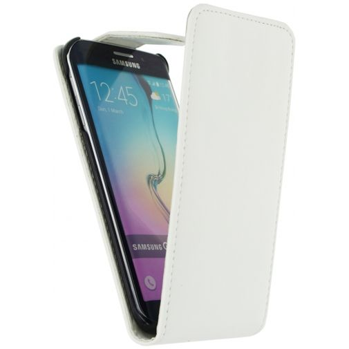 Xccess Leather Flip Case White Samsung Galaxy S6 Edge