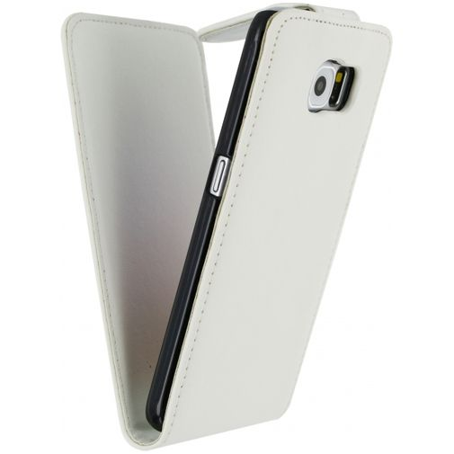 Xccess Leather Flip Case White Samsung Galaxy S6