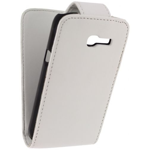 Xccess Leather Flip Case White Samsung Galaxy Trend Lite S7390