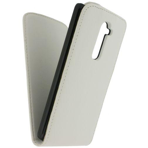Xccess Leather Flip Case White Samsung Galaxy Trend (Plus)