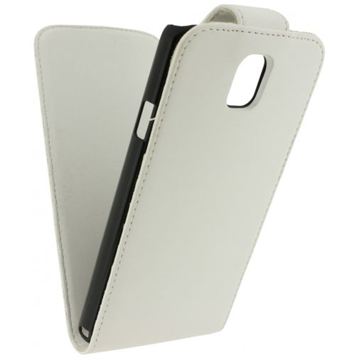 Xccess Leather Flip Case White Samsung Note 3 Neo
