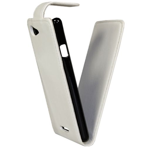 Xccess Leather Flip Case White Sony Xperia E3