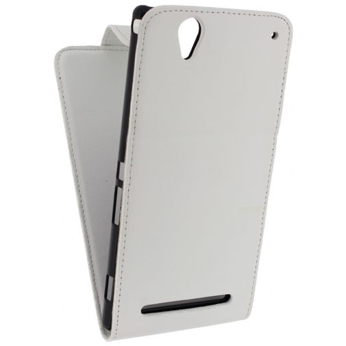 Productafbeelding van de Xccess Leather Flip Case White Sony Xperia T2 Ultra