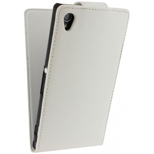 Productafbeelding van de Xccess Leather Flip Case White Sony Xperia Z1
