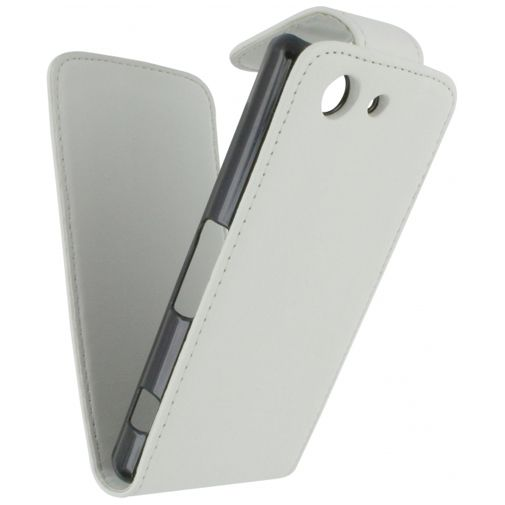 Xccess Leather Flip Case White Sony Xperia Z3 Compact