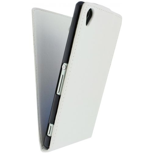 Xccess Leather Flip Case White Sony Xperia Z3