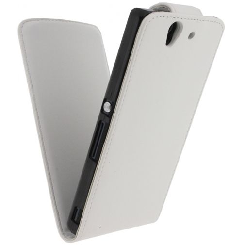 Xccess Leather Flip Case White Sony Xperia Z