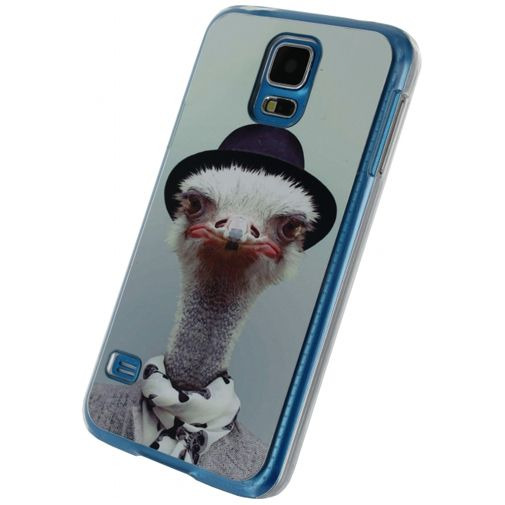 Xccess Metal Plate Cover Funny Ostrich Samsung Galaxy S5/S5 Plus/S5 Neo