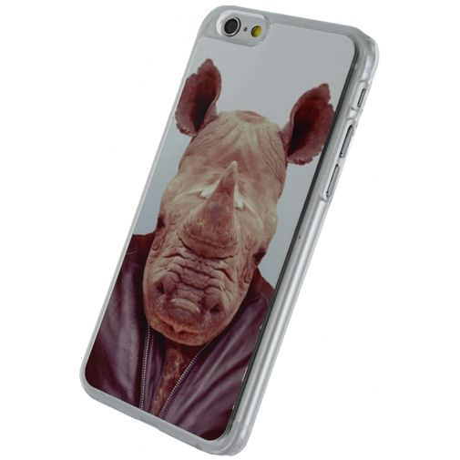 Xccess Metal Plate Cover Funny Rhino Apple iPhone 6/6S