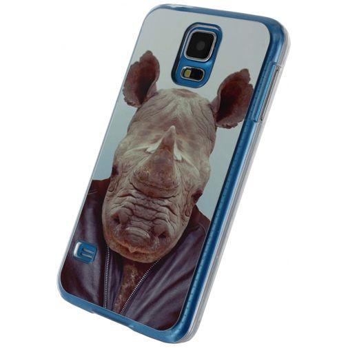 Xccess Metal Plate Cover Funny Rhino Samsung Galaxy S5/S5 Plus/S5 Neo