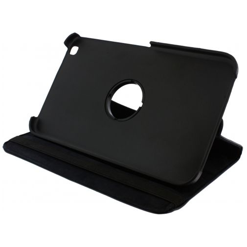 Xccess Rotating Leather Stand Case Black Samsung Galaxy Tab 3 8.0