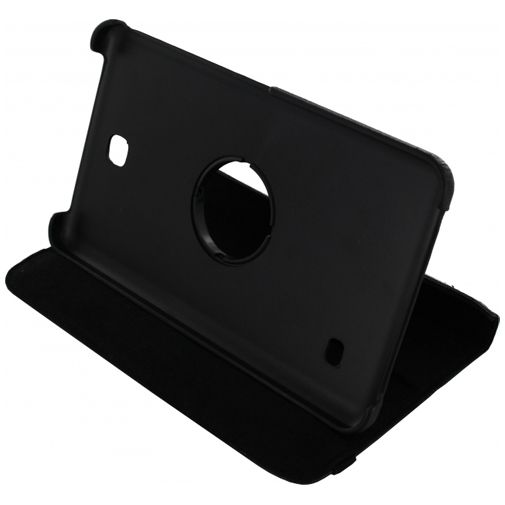 Xccess Rotating Leather Stand Case Black Samsung Galaxy Tab 4 7.0