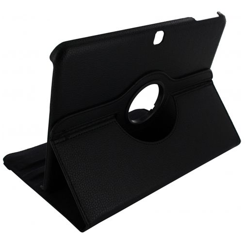 Xccess Rotating Leather Stand Case Samsung Tab 4 10.1 Black