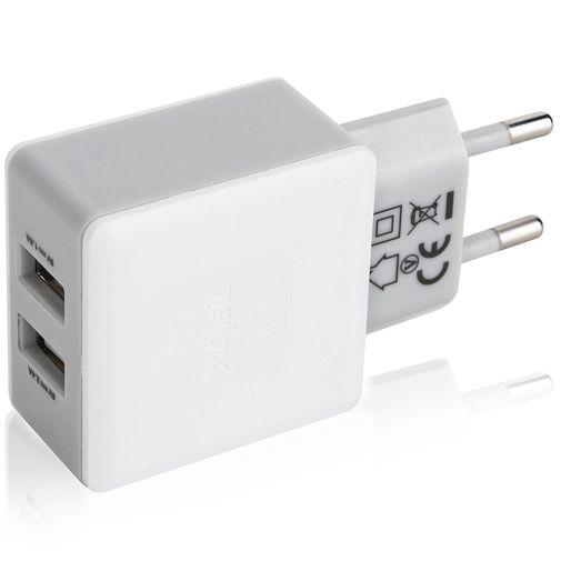 Xqisit Thuislader Dual USB 3.4A White