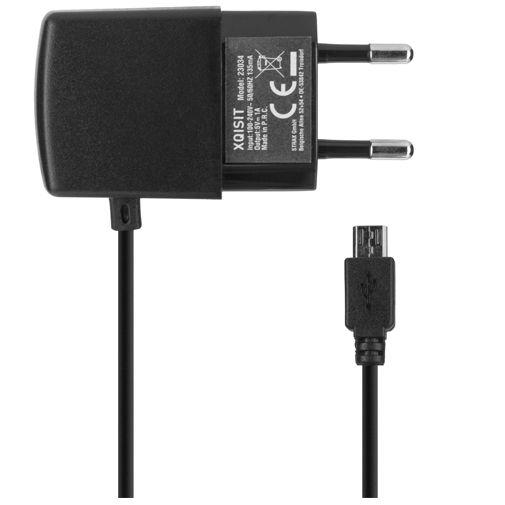 Xqisit Thuislader Micro USB 1A Black