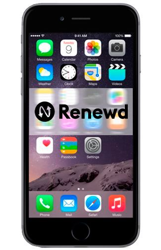 Productafbeelding van de Apple iPhone 6 128GB Black Refurbished