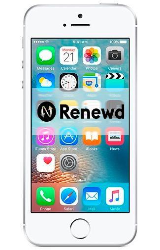 Productafbeelding van de Apple iPhone SE 64GB Silver Refurbished