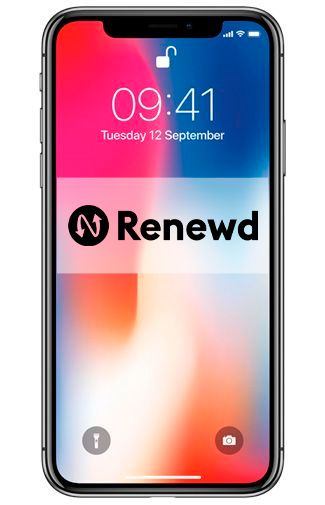 Productafbeelding van de Apple iPhone X 256GB Black Refurbished