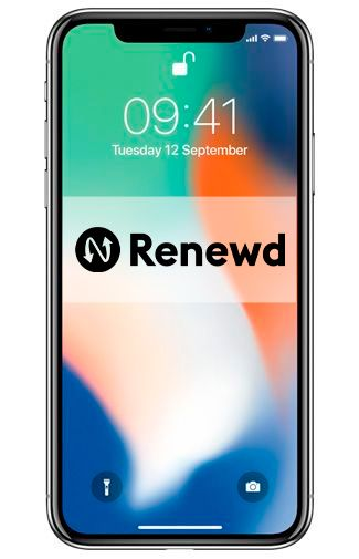 Productafbeelding van de Apple iPhone X 64GB Silver Refurbished