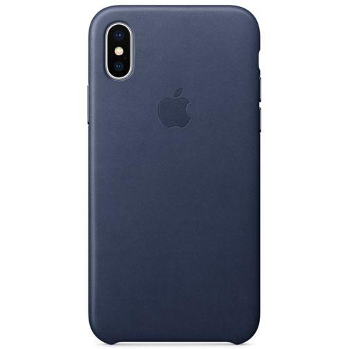 Apple Leather Case Midnight Blue iPhone X