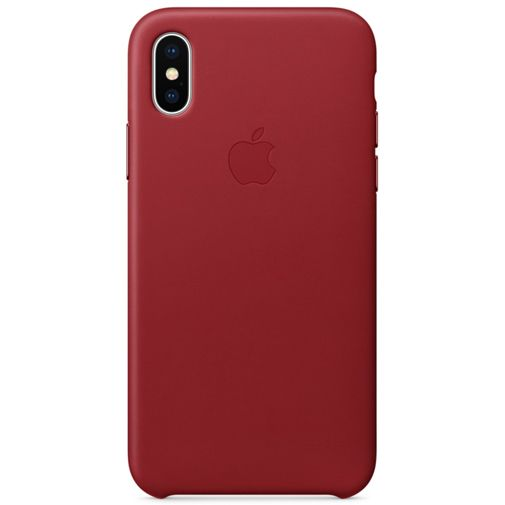 Apple Leather Case Red iPhone X