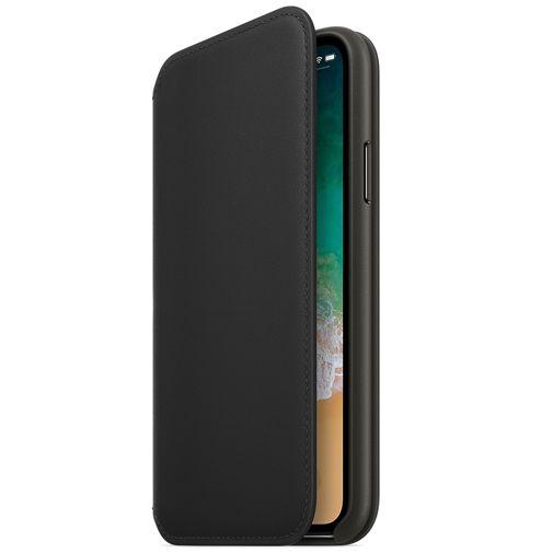 Apple Leather Folio Case Black iPhone X