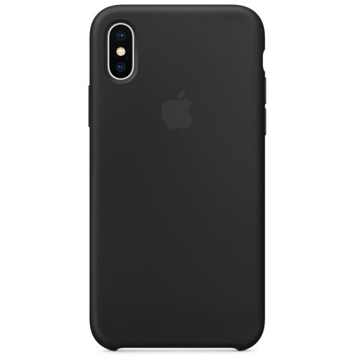 Apple Silicone Case Black iPhone X