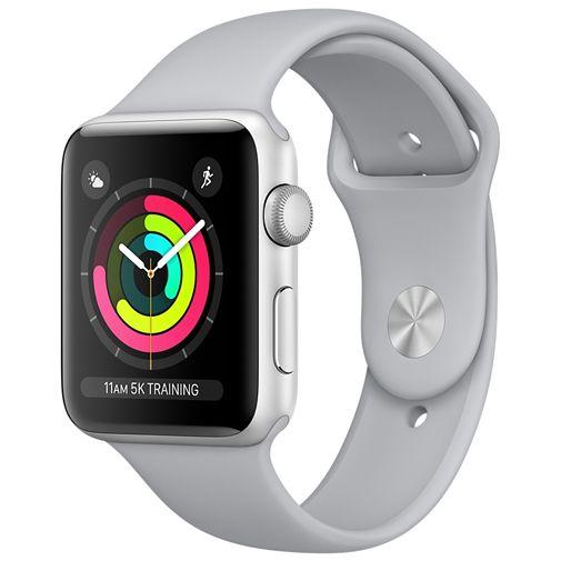 Productafbeelding van de Apple Watch Series 3 Sport 42mm Silver Aluminium (White Strap)