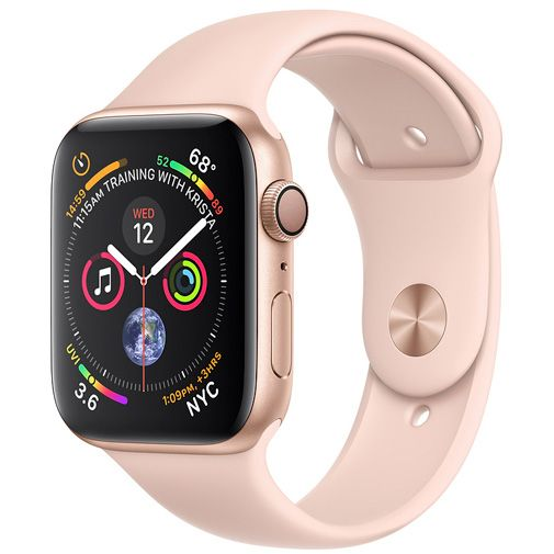 Apple Watch Series 4 Sport 40mm Gold Aluminium (Rose Gold Silicone Strap)