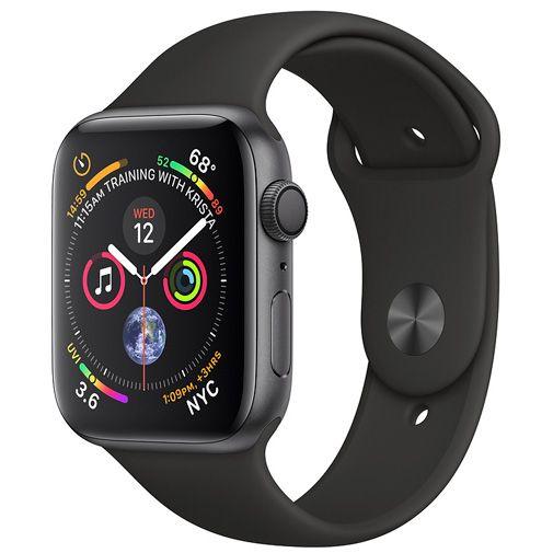 Apple Watch Series 4 Sport 40mm Grey Aluminium (Black Silicone Strap)