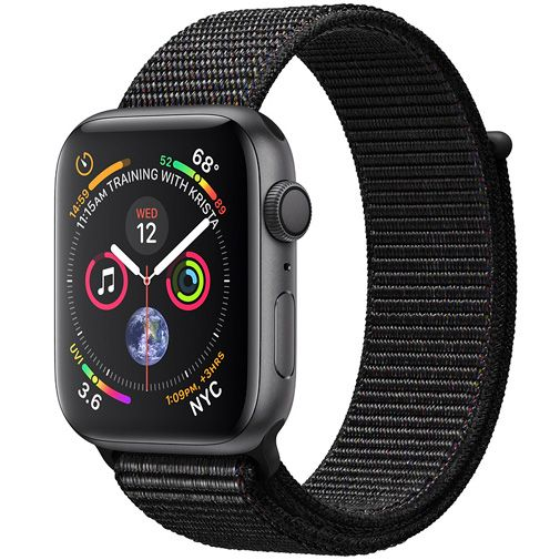 Apple Watch Series 4 Sport 44mm Grey Aluminium (Black Woven Nylon Strap)