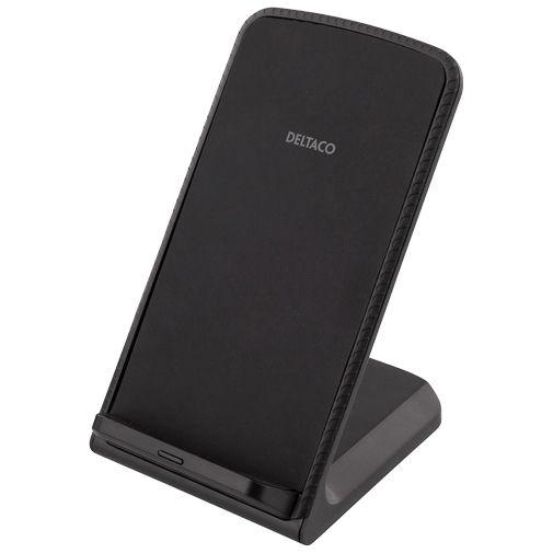 Productafbeelding van de Deltaco QI-1029 Qi Draadloze Snellader Stand 10W Black
