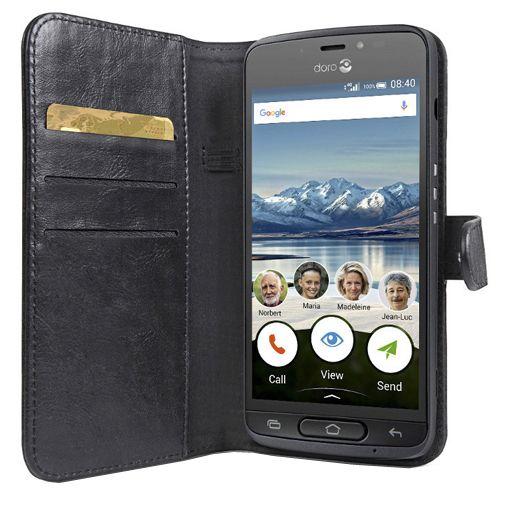 Doro Wallet Book Case Black Doro 8040