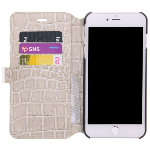 Guess Croco Book Case Shiny Beige Apple iPhone 7/8