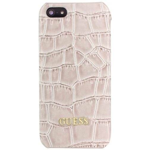 Guess Croco Hard Case Shiny Beige Apple iPhone 5/5S/SE