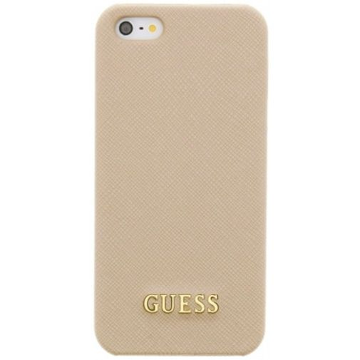Guess Saffiano Hard Case Beige Apple iPhone 5/5S/SE