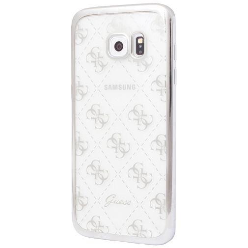 Guess TPU Case Transparent Silver Samsung Galaxy S7