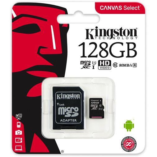 Kingston Canvas Select microSDXC 128GB + SD-adapter
