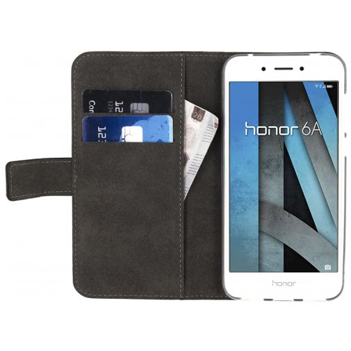 Mobilize Classic Gelly Wallet Book Case Black Honor 6A