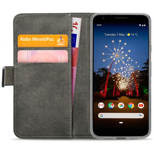 Productafbeelding van de Mobilize Classic Gelly Wallet Book Case Black Google Pixel 3a