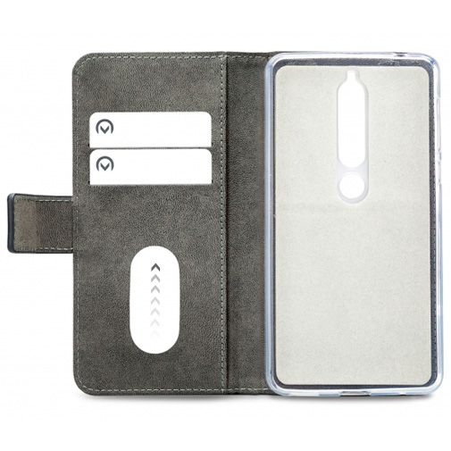 Mobilize Classic Gelly Wallet Book Case Black Nokia 6.1