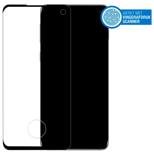 Productafbeelding van de Mobilize Edge-To-Edge Glass Screenprotector Black Samsung Galaxy S10