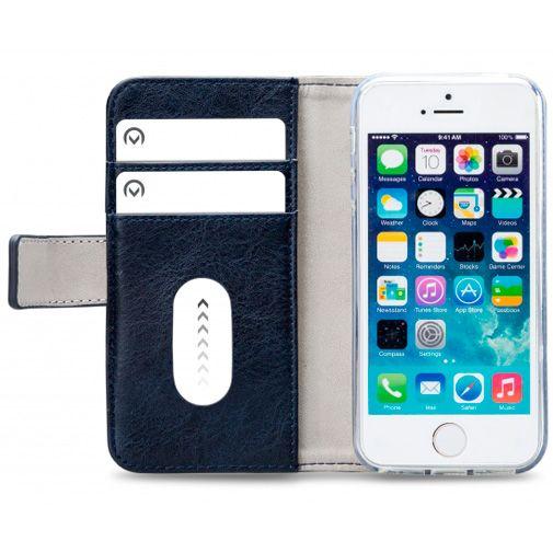 Productafbeelding van de Mobilize Elite Gelly Wallet Book Case Blue Apple iPhone 5/5S/SE
