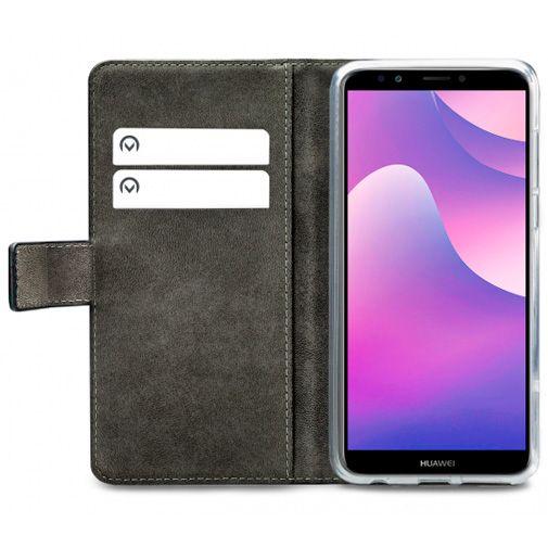 Productafbeelding van de Mobilize Classic Gelly Wallet Book Case Black Huawei Y7 (2018)